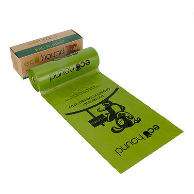 Ecohound Green Dog Poo Bags Oxo Biodegradable | Large Dispenser Roll Waste Bags