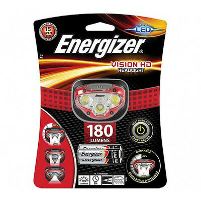 NEW Energizer Vision HD Headlight Worklight Sports Fishing with 3 AAA Batteries