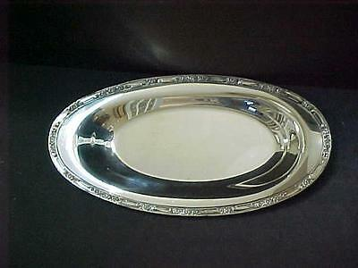 "Rogers & Bros 2319 Oval Serving Bread 13.5"" Tray Silver Plate Vintage Estate VG"
