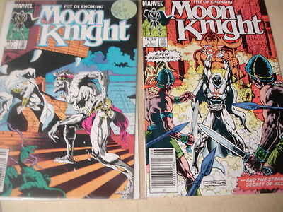 lot of 2 Moon Knight Fist Of Khonshu #1 #2 1985 Marvel Comics