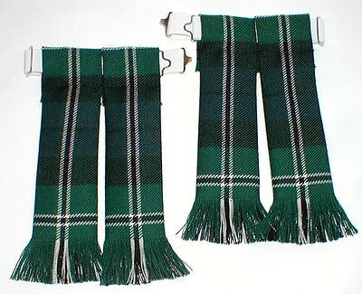 Kilt Hose Sock Flashes Melville Modern Tartan Worsted Fringed Kilts Highlandwear