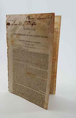 1835 Andrew Jackson Rare State of the Union Address