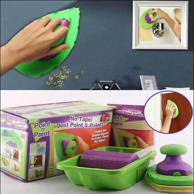 Paint Perfect Wall Decorating System Set Kit Pro Point Pad Roller Brush Tray Hot