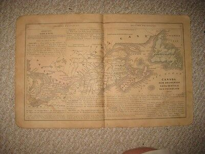 Antique 1858 New Brunswick Nova Scotia Newfoundland Canada East West Colton Map