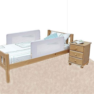 Safetots Double Sided Bed Rail White Child 2 Sided Bed Guard Travel Bedguard