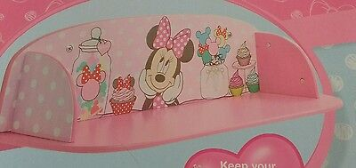 Disney Minnie Mouse Shelf Bedroom Girl pink baby Nursery Storage NEW Mickey