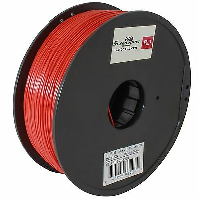 Red ABS 1.75mm Filament Spool for 3D Printers