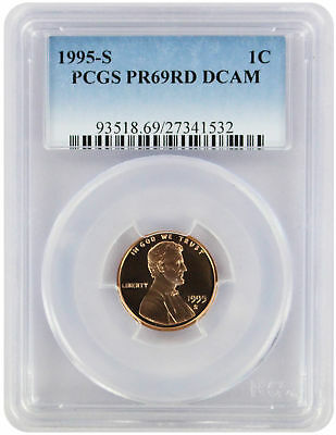 1995-S Lincoln Cent PR69RD DCAM PCGS Proof 69 Red Deep Cameo