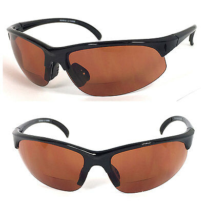 47dfe410703 BIFOCAL VISION READING GLASSES SUNGLASSES - RG05 - Amber Polycarbonate Lens