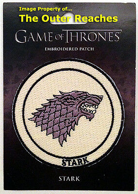 "Game of Thrones HOUSE OF STARK Dire Wolf/Direwolf Sigil 3"" Embroidered Patch"