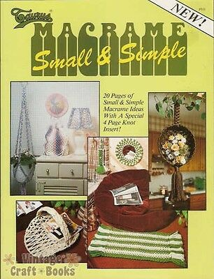 Macrame Small & Simple Vintage Pattern Book NEW Diaper Caddy Basket Lamp Cover