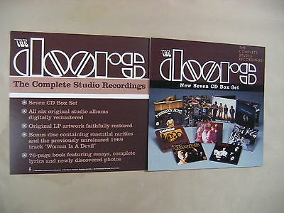 "THE DOORS Complete Studio Recordings USA 1999 2 Promo Flats / Poster 12"" X 12"""