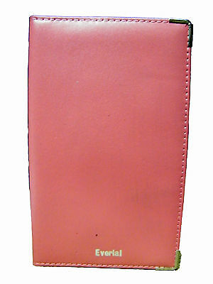 Plain Or Personalised Leather Pink Golf Score Card Holder.