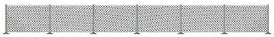 Busch 8117 Mesh Wire Fence with 32 Round Fence Posts N Gauge - 1st Post