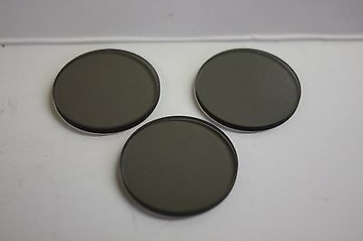 "1.25"" Gray Moon Telescope Filter Glass 50% Block each, Set of 3 NEW!"
