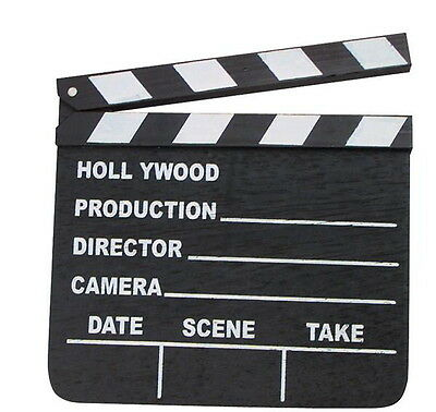 New Hollywood Clapboard Clapper Clap Board Movie Sign Director's Prop Chalkboard