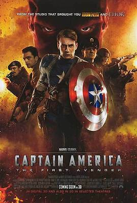 Captain America Intl Double Sided Original Movie Poster 27x40 inches