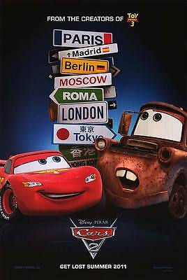 Cars 2 Version C Double Sided Original Movie Poster 27x40 inches