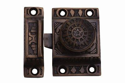 A29 Cabinet Latch  Solid Brass  Handmade  Antique Brass Finish