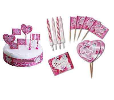 19 Piece PRINCESS CAKE DECORATING KIT {Amscan} (Candles, Cake Flags & Cake Wrap)