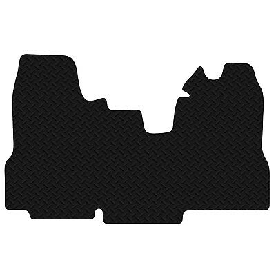 Ford Transit Van 2010 - 2014 Black Floor Rubber Tailored Van Mat 3mm 1pc Set