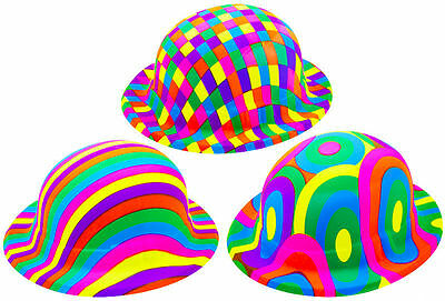 Pack of 12 Assorted Jazzy Bowler Hats - 3 Designs - Fancy Dress Party Decoration