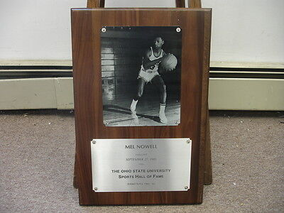 1985 Ohio State University Sports Hall of Fame Plaque for Mel Nowell-Basketball