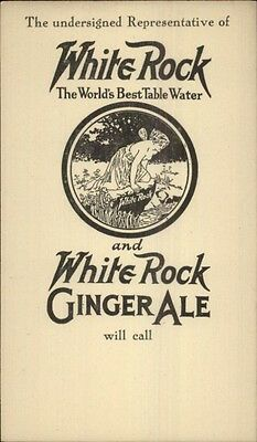 White Rock Ginger Ale Soda Soft Drink - Nude Fairy - Postal Card