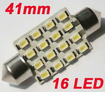 2x Sofitte Soffitte 42mm 16 SMD LED Innenraumbeleuchtung Lampe Licht Weiß 12V