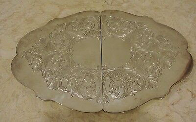 Lawrence B. Smith- Silver Plated Expandable Footed Trivet ~ E P N S~