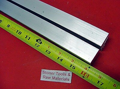 "2 Pieces 1"" X 1"" ALUMINUM 6061 SQUARE BAR 16"" long T6511 Solid New Mill Stock"
