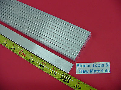 "10 Pieces 1/4"" X 3/4"" ALUMINUM 6061 FLAT BAR 36"" long Solid T6 .25 Mill Stock"