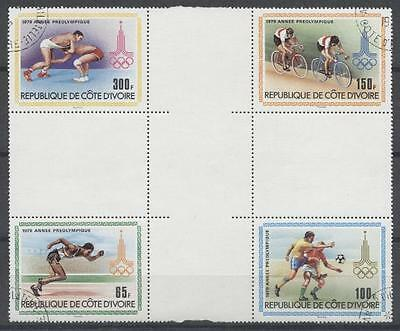 (967034) Soccer, Olympics, Wrestling, Bicycle, cto CROSSGUTTER, Cote D'Ivoire