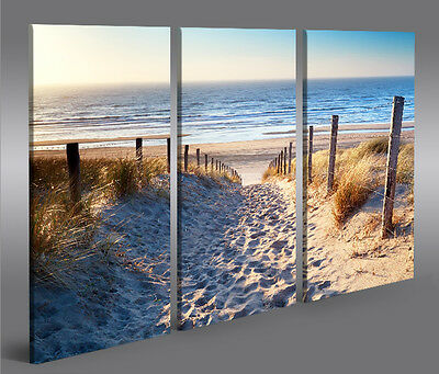 bilder strand meer poster nordsee 3 auf leinwand vierteilig je 65cm 65cm eur 54 10 picclick de. Black Bedroom Furniture Sets. Home Design Ideas