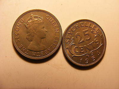 Seychelles 25 Cents, 1954, Uncirculated