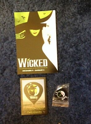NEW Wicked Broadway Theater SHOW Tac Lapel Pin Souvenir & Cards WOZ Collectible
