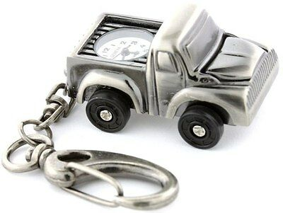 New Geneva Gunmetal Car Keychain ( Small Old Pickup Truck) Watch