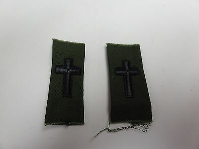Us Military Insignia Patch Sew On Set Of 2 Army Rank Od Green Chaplain