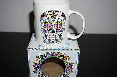 Day of Dead Candy Skull Coffee Cup Skeleton medieval Ornament Decor mug Gothic