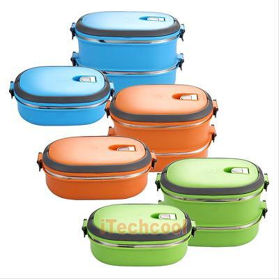 Portable Lunch Bento Box Stainless Steel Thermal Insulated Food Picnic Container
