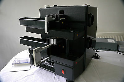 Slide projector Royal System 150 Duo Double projector  + case speakers & TRAYS