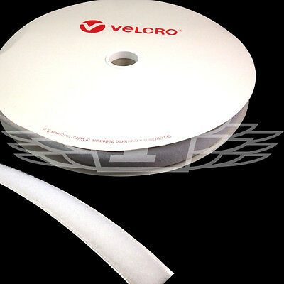 VELCRO® BRAND 10mm x 25 meters WHITE SELF ADHESIVE LOOP ONLY STICKY BACK TAPE