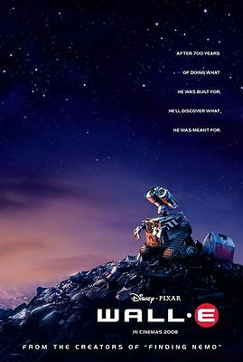 Wall E  Advance A Double Sided Original Movie Poster 27x40 inches