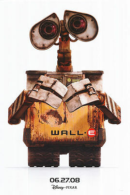 Wall E  White Double Sided Original Movie Poster 27x40 inches