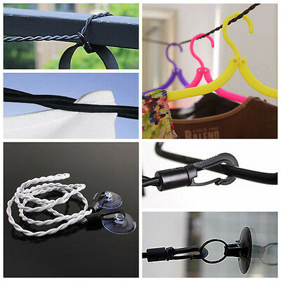 1.2M Durable Indoor Outdoor Travel Pegless Clothes Line Rope Business Laundry