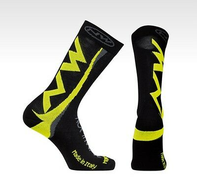 Calze Invernali Northwave EXTREME Black/Yellow Fluo/WINTER SOCKS NORTHWAVE EXTRE
