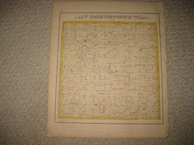 Antique Lordstown Bazetta Township Cortland Trumbull County Ohio Handcolored Map