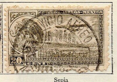 Mexico 1929 Early Issue Fine Used 20c. Air Stamps 006345