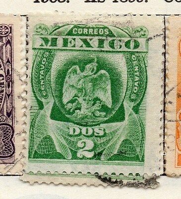 Mexico 1903 Early Issue Fine Used 2c. 006284