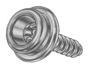 """10 PRO Boat Canvas Stainless Steel Screw in Snap Studs 5/8"""" with OVERSIZE SCREW!"""